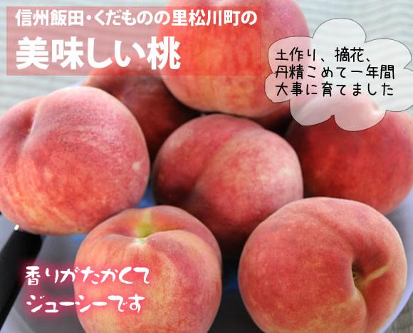 原りんご園の美味しい桃